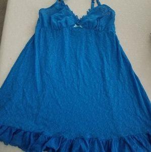 Vintage cacique lace nightgown